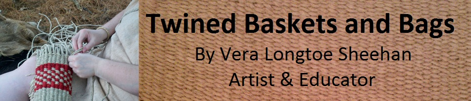 Twined Bags & Baskets by Vera Longtoe Sheehan